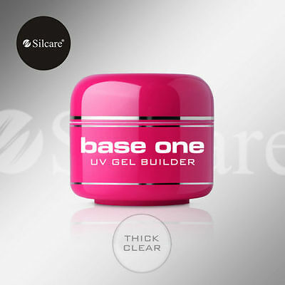 SILCARE Base One CLEAR Acid FREE UV Gel FILE OFF Nail Gel BUILDER 5g 15g 30g 50g