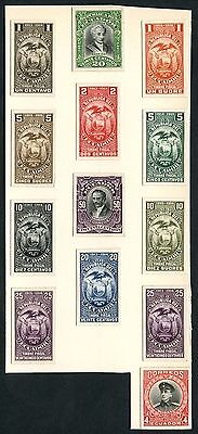 Ecuador (13) Different Banknote Plate Proofs On India Paper Wlm3892