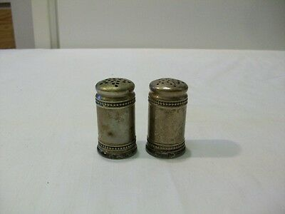 Vintage EPNS (marked) Silver Plate  Salt and Pepper Shakers with Glass Bottoms