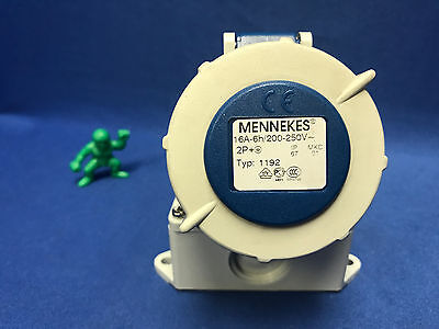 Mennekes Type 1192, IP67 Blue Wall Mount 3P Right Angle Industrial Power Socket