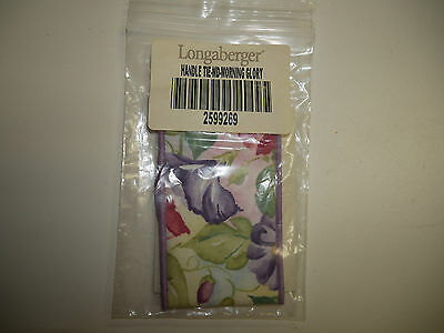 Longaberger Medium Handle Tie NEW in Package Morning Glory Made in USA