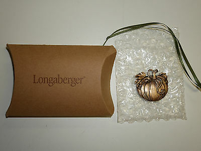 Longaberger Pumpkin Tie-On NEW in Box Made in the USA
