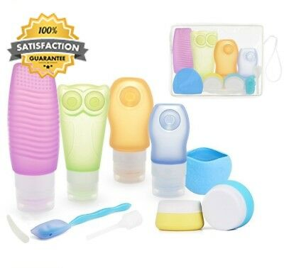 Holiday Travel Bottles Set, Silicone Toiletry Dispensing Tubes Containers BPA