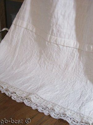Early PA c 1880s Quilted Petticoat SLIP  Skirt Wedding Bride s WHITE lace trim