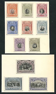 Peru #209P3-219P3 Complete Set Of 11 Plate Proofs On India Wlm3914