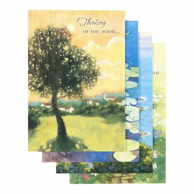 DaySpring Thinking of You Boxed Greeting Cards w Embossed Envelopes - 12 Count