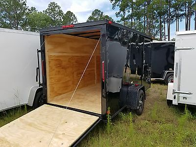 6x12 Enclosed Trailer Cargo Factory Direct Pricing Plywood Walls blackout