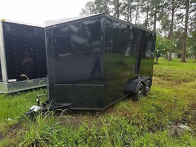 2017 7x14 Enclosed Cargo Trailer Factory Direct Pricing. 7ft interior Toy Hauler