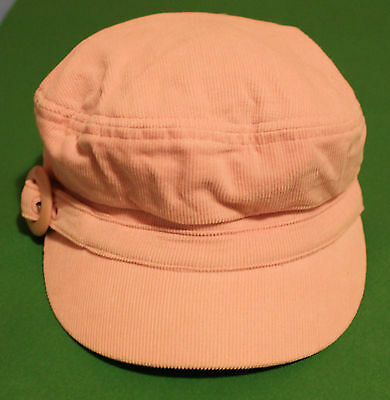 Pink Girls Corduroy Peaked Hat - Jay Jays - one size fits all - 100 % cotton