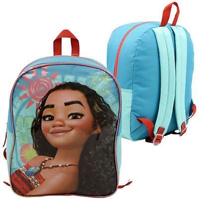 "Disney Moana 15"" baby blue School Girls Book Bag Backpack"