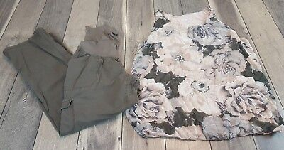 Pea in the Pod Oh Baby Silk Tank Blouse and Adjustable Pants Outfit Large (J21)
