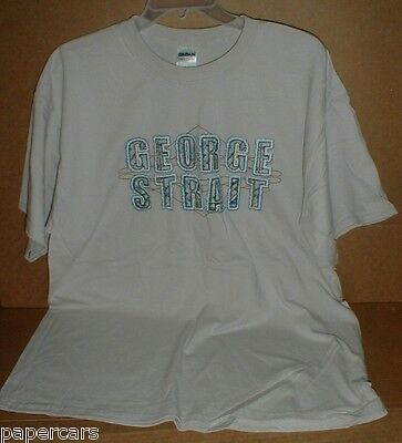George Strait Country Music Denim Style Lettering Gray retro T-shirt XL NEW