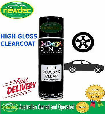 1K Gloss Clear Paint 400Ml High Spray Touch Up Automotive Top Coat Auto Ford Dna