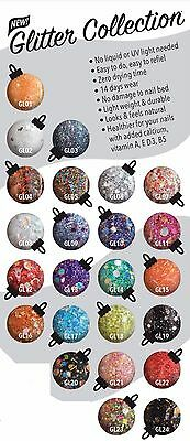 SNS Nail Dipping Powder GLITTER Colors No Primer,No Liquid GL01-GL24 U Pick 1oz