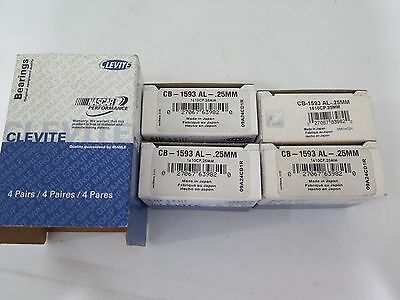 Clevite CB1654P25MM Engine Connecting Rod Bearing Box of 4 NOS 4B1-2
