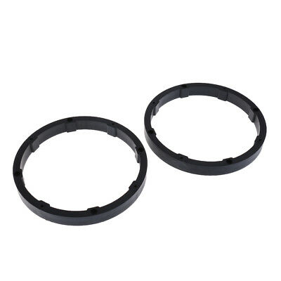 2x Replacement 6.5 Inch Speaker Rings Car Audio Mounting Spacers Forms Black
