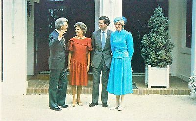 Postcard-Royalty.princess Diana With Bob And Hazel Hawke In Canberra 1983