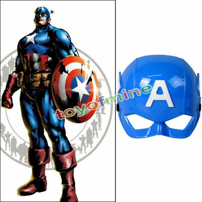 Superheld Kinder Captain America Avenger Kostüm Maske Halloween Party Spielzeug