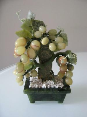 Stunning Chinese Hardstone Potted Grapes & Vine Plant