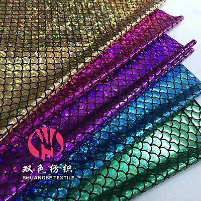 Scale Mermaid Tail HOLOGRAM SPANDEX Sparkle Colorful FABRIC YARD