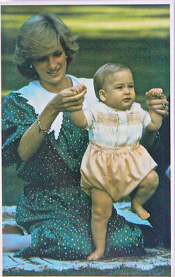 Postcard-Royalty.australia.princess Diana And Prince William 1983.