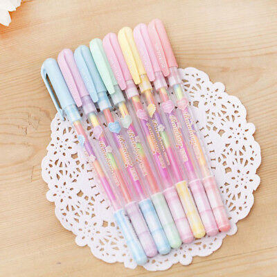 6Pc 6 Colors in 1 Pen Gel Pens for Office Students Ink Pen Chalk Pen Kawaii Gift