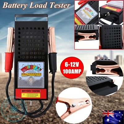 Battery Load Tester 6V 12V Volt 100 AMPTruck Boat Bike Car Battery Tester TT