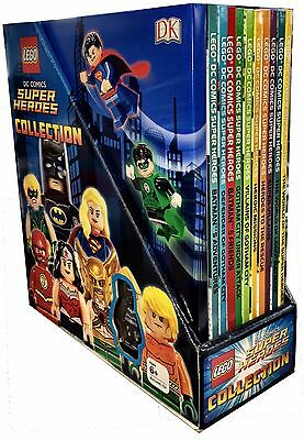 LEGO DC Comics Super Heroes Collection 10 Books with Minifigure Gift Set Pack