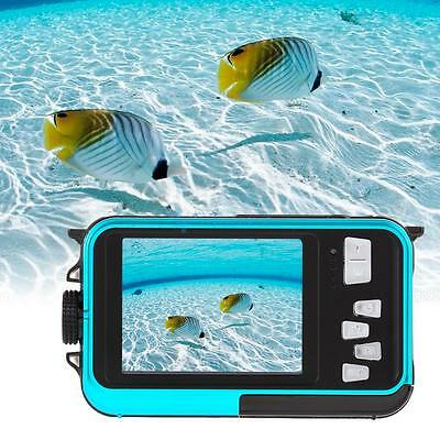 Waterproof HD 1080P 24MP 16x Digital Zoom Dive Camera Video Double LCD Screen US