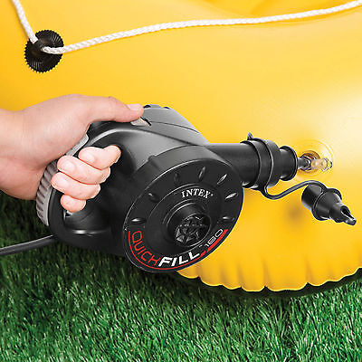 INTEX 66624 Luftpumpe Pool Boot elektrische Pumpe Bett Luftbett Quick Fill 230 V