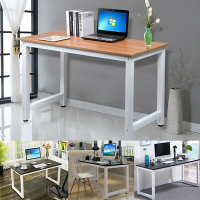 Home Study Workstation Office Metal Corner Desk Computer PC MDF Table Writing