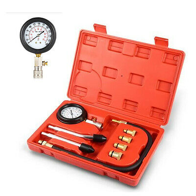 Professional Petrol Gas Engine Cylinder Compression Gauge Tester Tool Motor Auto