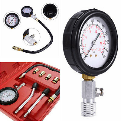 Auto Motor Professional Petrol Gas Engine Cylinder Compression Tester Gauge Kits