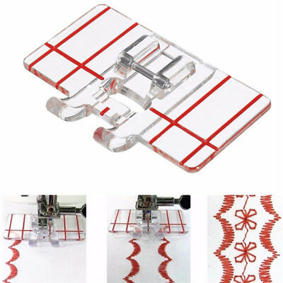 Clear Plastic Parallel Stitch Foot Presser Domestic Sewing Machine  Accessory