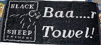 Black Sheep Red Cotton Bar Towel (pp)