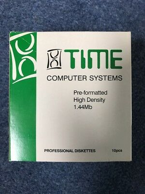 TIME COMPUTER SYSTEMS : 8 DISKETTES : FLOPPY DISCS : 2HD : Opened Box