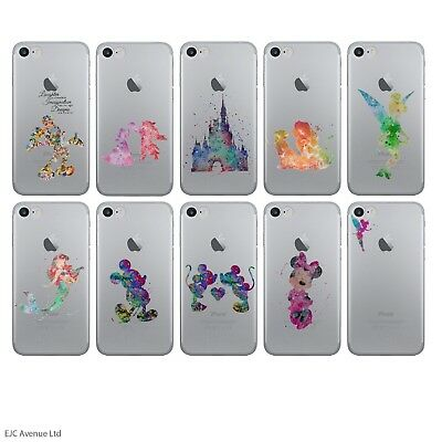 """Disney Fan Art Case/Cover For Apple iPhone 7 (4.7"""") Screen Protector / Silicone"""