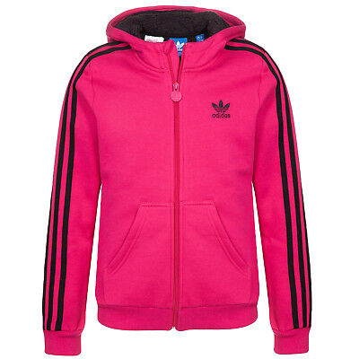 adidas Originals Girls Teddy Fleece Hooded Hoodie Hoody Sweatshirt - (B GRADE)