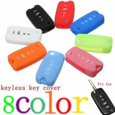 4 Buttons Silicone Smart Remote Key Cover Case Holder Fob For Jeep Renegade 2016
