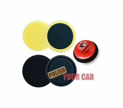"Meguiars 2 x Spot Foam Pads 4"" 100mm Polishing Finishing M14 Backing Kit Makita"
