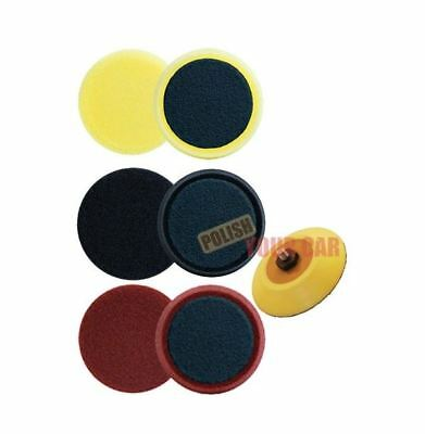 "Meguiars 3 x Spot Foam Pads 4"" 100mm Cut Polishing Finish DA Backing Kit G220"