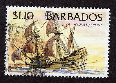 1994 Barbados $1.10 Ships William and John 1627 SG1086 FINE USED R32584