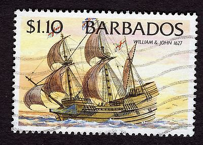 1994 Barbados $1.10 Ships William and John 1627 SG1086 FINE USED R32587