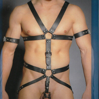 Zado Leather Body Harness with Gates of Hell
