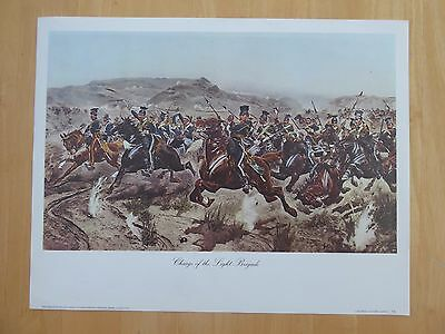Military Print - THE CHARGE OF THE LIGHT BRIGADE AT THE BATTLE OF BALACLAVA