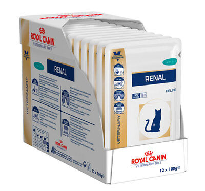 Royal Canin Veterinary Diet Renal with Tuna/Beef/Chicken Cat Wet Food Pouches