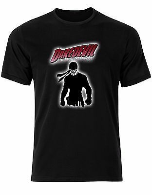 Daredevil The Man Without Fear Marvel DC Comic Villains Mens Tshirt Tee Top AL31