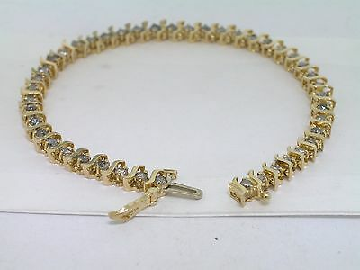 Tennis Armband Gelbgold Gold 9,4 Gramm 44 Brillanten total 2,2ct