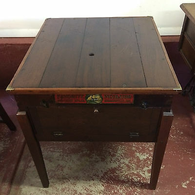 Antique Incubator End Table