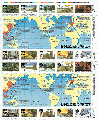 Scott  #2838... 29 Cent.... 1944 Road To Victory... Sheet of  20